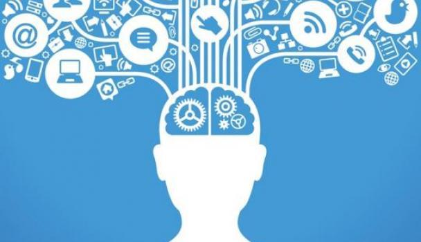brain with social icons coming out from it